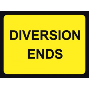 Diversion End Sign