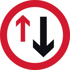 Oncoming Traffic Has Priority Sign