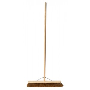 "24"" Coco Platform Broom c/w Stayed Handle"