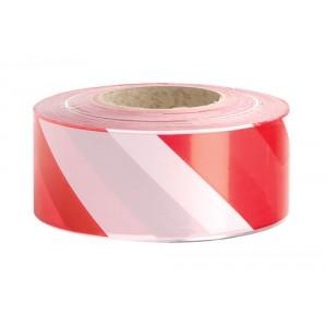 Zebra Tape, Red/White, 500mtr x 75mm