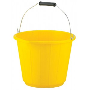3 Gallon Yellow PVC Bucket