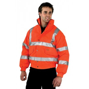 EN471 Hi-Vis Bomber Jacket Orange