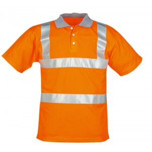Short Sleeved Polo Shirt Orange