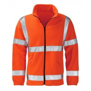 EN471 Hi Vis Orange Fleece Jacket