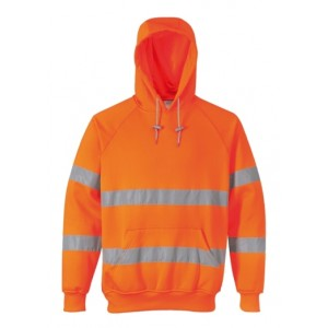 EN471 Hi Vis Hooded Sweatshirt Orange