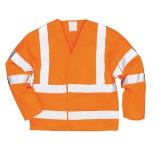 EN471 Hi Vis Long Sleeve Vest Orange
