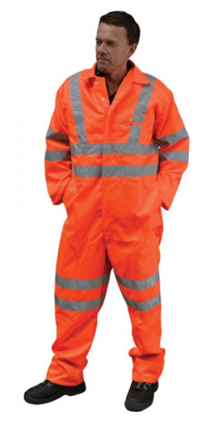 EN471 Hi Vis Polycotton Boilersuit Orange