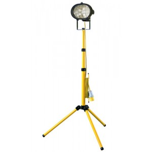 Single Headed Site Light c/w Adjustable Stand