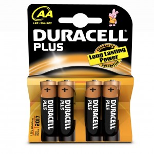Pack 4 Duracell Plus AA Batteries