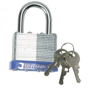 Laminated Steel Body Padlock c/w 3 Keys