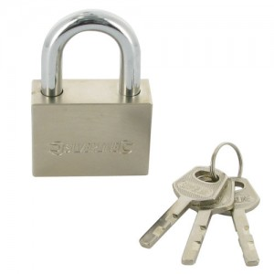 50mm Padlock; High Security Chromed