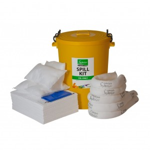 90 Litre Oil Spillage Kit c/w Container