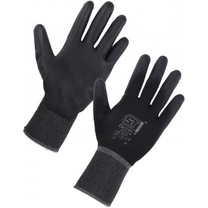 PU Grip Gloves Black
