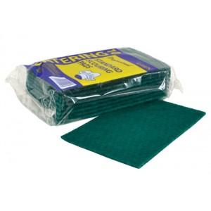 Flat Green Scourer Pack 10