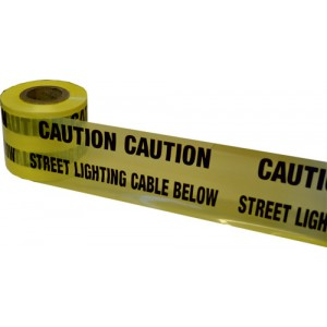 Underground Warning Tape Street Lighting Cable Below