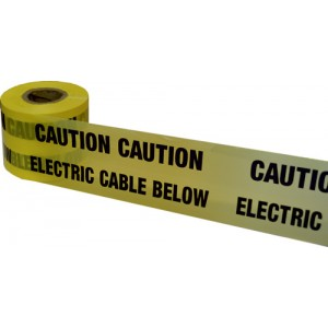 Underground Warning Tape Electric Cable Below
