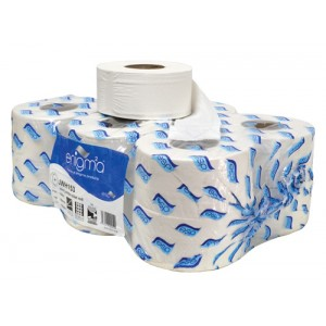 2 Ply White Mini Jumbo Toilet Rolls (pack of 12)