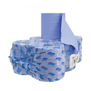 Paper Hand Towels Centre Feed Blue