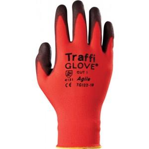Traffiglove AGILE Red PU Palm Coated Glove Size 10