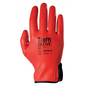 Traffiglove ACTIVE Red Soflex Fully Coated Glove Size 10