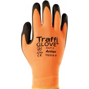 Traffiglove ACTION Amber PU Palm Coated Glove Size 10