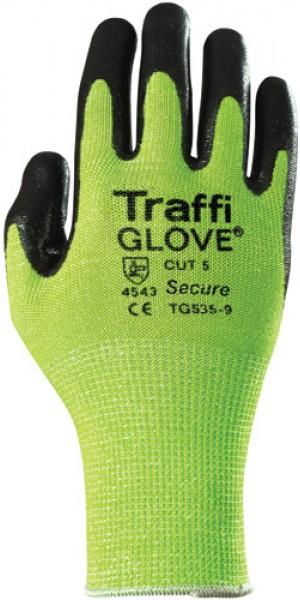 Traffiglove SECURE Green Nitrile Foam Palm Coated Glove Size 10